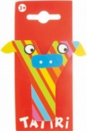 Tatiri houten letters / dierenalfabet - Y (rood)