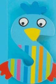 Tatiri houten letters / dierenalfabet - S (blauw)