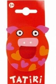 Tatiri houten letters / dierenalfabet - O (rood)