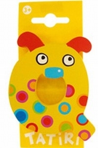 Tatiri houten letters / dierenalfabet - Q (geel)
