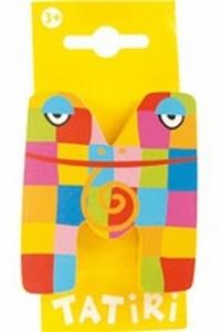 Tatiri houten letters / dierenalfabet - M (geel)