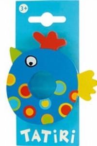 Tatiri houten letters / dierenalfabet - O (blauw)