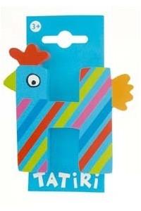 Tatiri houten letters / dierenalfabet - H (blauw)