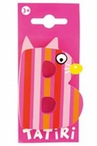 Tatiri houten letters / dierenalfabet - B (roze)