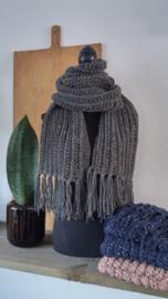 Sjaal Tweed Grijs