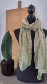 Sjaal Groen-Beige