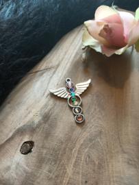 Chakra hanger Zilverkleur Vleugels