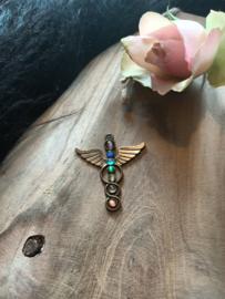 Chakra hanger Bronskleur Vleugels