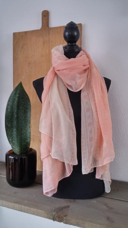 Sjaal Roze-Wit
