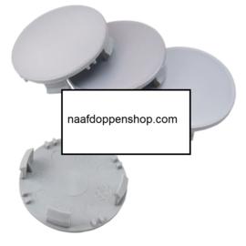 Set van 4 zilvergrijze naafdoppen, buitenmaat 62 mm en klemmaat 60 mm