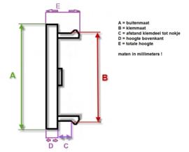 Set van 4 cremekleurige naafdoppen, buitenmaat doorsnede 48,3 mm en klemmaat 42 mm