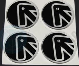 Siliconen logostickers motief pijl, set van 4, zelfklevend, 60 mm doorsnede
