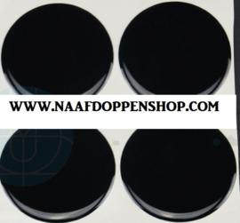 Zwarte  siliconen stickers, set van 4, zelfklevend, 55 mm doorsnede
