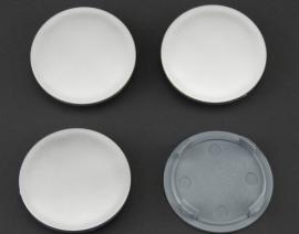 Set van 4 zilvergrijze naafdoppen, buitenmaat 64 mm en klemmaat 57 mm