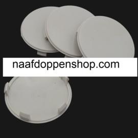 Set van 4 lichtgrijze naafdoppen, buitenmaat doorsnede 68,2 mm en klemmaat 66 mm