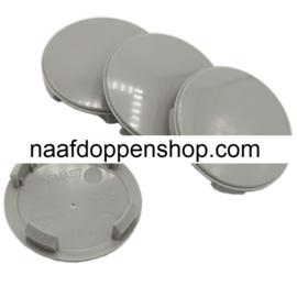 Set van 4 grijze naafdoppen, buitenmaat doorsnede 56,5 mm en klemmaat 51,5 mm