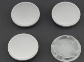 Set van 4 zilvergrijze naafdoppen, buitenmaat 76,4 mm en klemmaat 65,7 mm