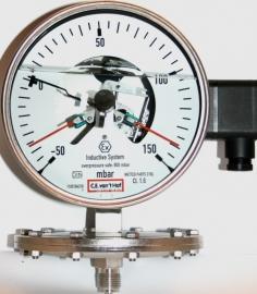 contact membraan manometer -50 +150 mbar