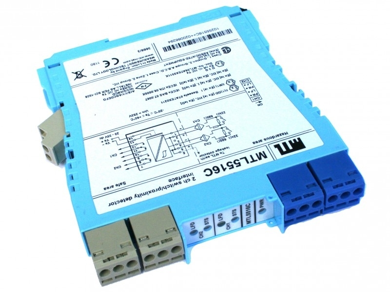 MTL 5516C - 2 channel DI with changeover relay output