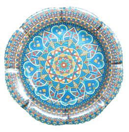 Melamine schaal  bloem Blauw 35 cm