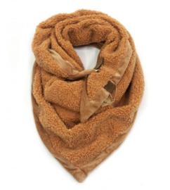 Teddy triangel sjaal Cognac