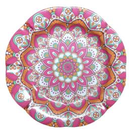 Melamine schaal  bloem Roze 30 cm