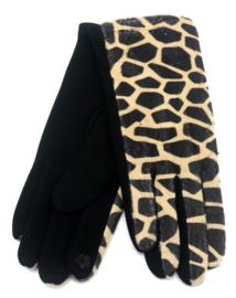 Handschoenen Giraffe print