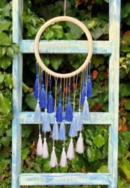 Dromenvanger IBIZA kwastjes blauw