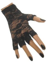 Handschoenen met kant zwart