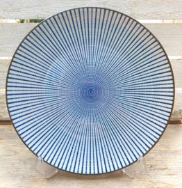 Ontbijt bord Royal Blue Stripe