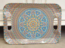 Melamine dienblad Blauw klein 40 x 29
