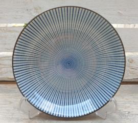 Diep bord Royal Blue Stripe