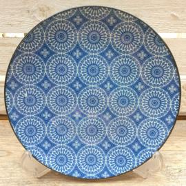 Groot bord Royal Blue Circle