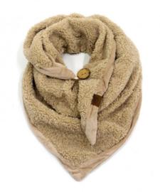 Teddy triangel sjaal Naturel