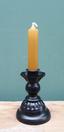 Kandelaar Zwart metaal 10 cm