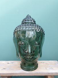 Budha glas groen 30 cm