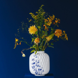Vaas Blauw Vouw XL 25 cm
