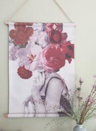 Flower Lady op canvas 64 x 84 cm