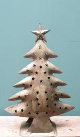 Kerstboom gerecycled blik 40 x 28 Goud