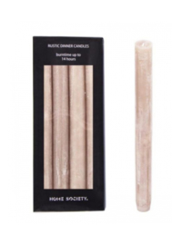 Home Society Rustic Dinner Candles Taupe L