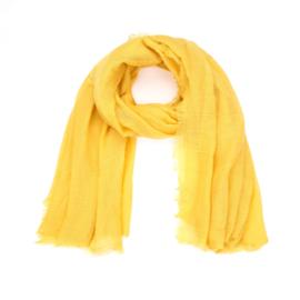 Dunne Sjaal rechthoek Geel
