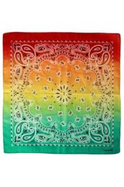 Zakdoek met kleurverloop Rood/OGeel/Groen