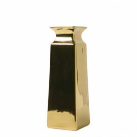Vaasje Goud vierkant 14 cm