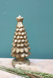 Kerstboom goud 17 cm