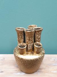 Vaas goud met gaten 14 cm