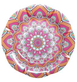 Melamine schaal  bloem Roze 35 cm