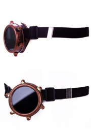 Steampunkbril monocle koper