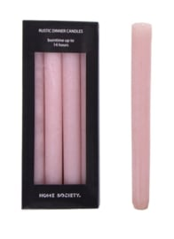 Home Society Rustic Dinner Candles Pink L