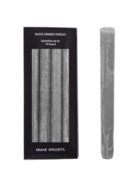 Home Society Rustic Dinner Candles Grey L