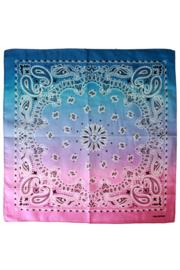 Zakdoek met kleurverloop Roze/Paars/Blauw